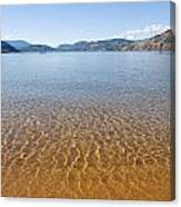 At The Water Edge. Canvas Print