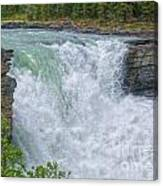 Athabasca Falls Study V Close-up Canvas Print