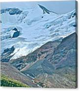 Athabasca Glacier Along Icefields Parkway In Alberta Canvas Print