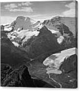 T-303504-bw-athabasca Glacier In 1957  Canvas Print