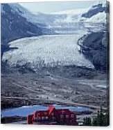 1m3734-athabasca Glacier W Original Icefields Chalet Canvas Print