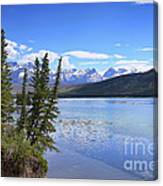 Athabasca River Scenery Canvas Print