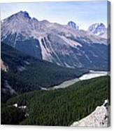 Athabasca River Valley Canvas Print
