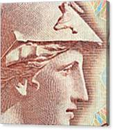 Athena On Banknote Canvas Print
