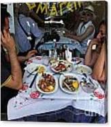 Athenians Eat Lunch Canvas Print