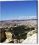 Athens View From Acropol Canvas Print