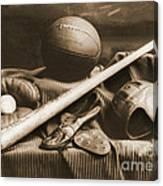 Athletic Equipment 1940 Canvas Print