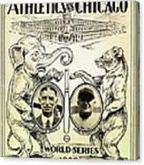 Athletics Vs Chicago 1929 World Series Canvas Print