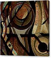 Atlanta Earth Abstract Art Canvas Print