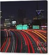 Atlanta Interstae 85 Night Canvas Print