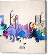 Atlanta Painted City Skyline Canvas Print