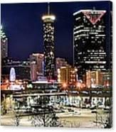 Atlanta Panoramic View Canvas Print
