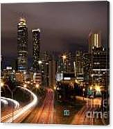 Atlanta Skyline At Dusk Canvas Print