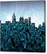 Atlanta Skyline Geometry 3 Canvas Print