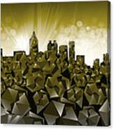 Atlanta Skyline Geometry Canvas Print