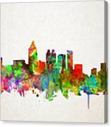 Atlanta Skyline Watercolor Canvas Print