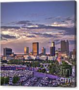 Atlanta Sunset Fulton County Stadium Braves Game  Canvas Print