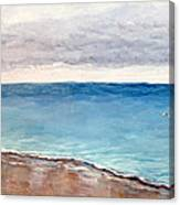 Atlantic Beach Fishing Canvas Print
