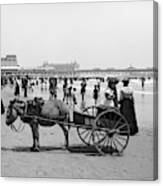 Atlantic City Beach, C1901 Canvas Print