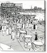 Atlantic City Boardwalk 1940 Canvas Print