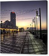 Atlantic City Boardwalk In The Morning Canvas Print