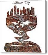 Atlantic City Rusty Skyline Canvas Print