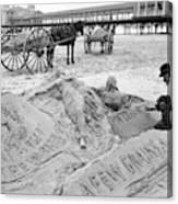 Atlantic City The Sandman Canvas Print