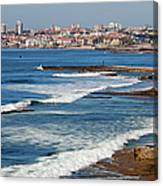 Atlantic Ocean Coast In Cascais And Estoril Canvas Print