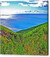 Atlantic Ocean View Point From Cape Breton Highlands National Park-nova Scotia Canvas Print