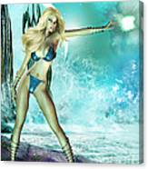 Atlantis Pin-up Canvas Print