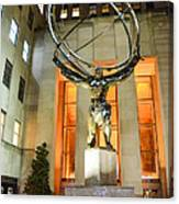 Atlas In Rockefeller Center Canvas Print