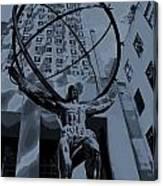 Atlas Rockefeller Center Poster Canvas Print