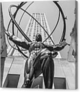 Atlas Statue Rockefeller Center Canvas Print