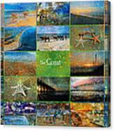 Atmospheric Beaches   Canvas Print