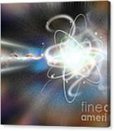 Atom Collision Canvas Print