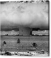 Atomic Bomb Test Canvas Print