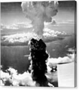Atomic Burst Over Nagasaki Canvas Print