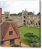Atop The Castle Wall Canvas Print
