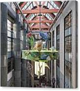 Atrium Of The Central Library In Los Angeles Canvas Print