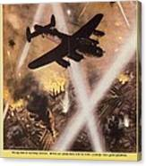 Attack Begins In Factory Propaganda Poster From World War II Canvas Print