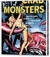 Attack Of The Crab Monster 1957  Canvas Print
