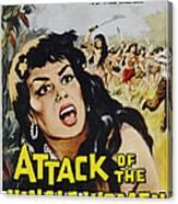 Attack Of The Jungle Women, 1959 Canvas Print