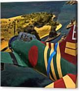 Attack On Battleship Row Canvas Print
