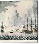 Attack On Fort Mifflin, 1777 Canvas Print