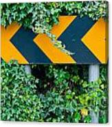 Attention Road Sign  Canvas Print