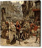 Atterdag Holding Visby To Ransom 1361 Canvas Print