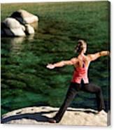Attractive Woman Doing Yoga Canvas Print