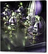 Aubergine Paris Wine Glasses Canvas Print