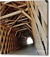 Auchumpkee Creek Covered Bridge Inside View Canvas Print
