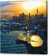 Auckland Oil On Canvaz Canvas Print